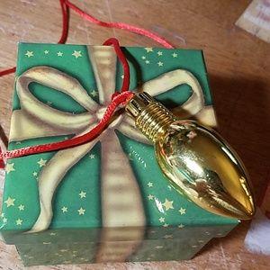 """CHRISTmas Gold Lightweight Light Bulb 24"""""""